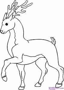 How to Draw a Cartoon Deer, Step by Step, Cartoon Animals ...