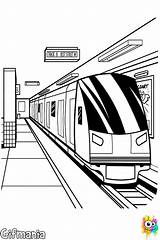 Subway Coloring Underground Pages Para Colouring Metro Colorear Malvorlagen Bahn Dibujos Train Station Drawing Nyc Draw Quiet Drawings Trains Printable sketch template
