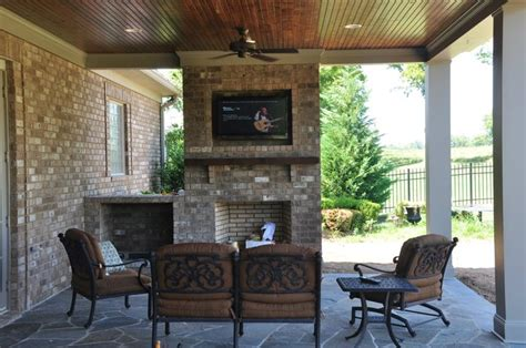 covered patio with fireplace back yard makeovers and remodels in nashville tn