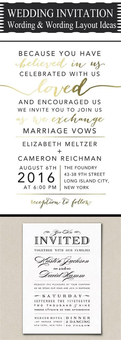 popular wedding invitation wording diy templates