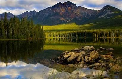 Canada Landscape National Jasper Park Lake Forest