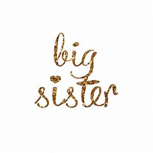 big sister iron on decal glitter iron on letters diy big With large gold iron on letters