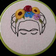 Frida Kahlo Kissen : frida kahlo flor pelo 8 bordado aro arte del por lesfillesshop needlework ~ One.caynefoto.club Haus und Dekorationen