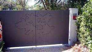Portail Fer Forgé Plein : portail plein fer portail en aluminium battant sfrcegetel ~ Dode.kayakingforconservation.com Idées de Décoration