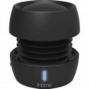 iHOME Bluetooth Rechargeable Mini Speaker System Black