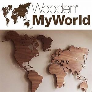Beleuchtete Deko Häuschen : myworld is een houten wandkaart van de wereld ontworpen door dailyliving atelier en leverbaar ~ Sanjose-hotels-ca.com Haus und Dekorationen