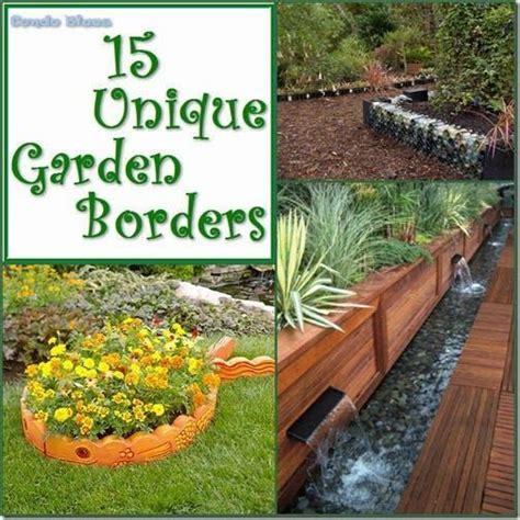 unique  unusual garden border  edging ideas