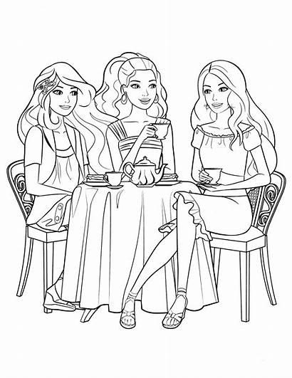 Barbie Coloring Colouring Friends Pobarvanke Colorare Desenhos