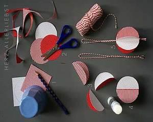 Boule De Noel A Fabriquer : diy d co fabriquer des boules de no l rouges et blanches ~ Nature-et-papiers.com Idées de Décoration