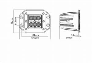 2x18w led work driving light 8 deg spot flush mount With atshark led hid work driving light wiring harness kit 12v 40a switch