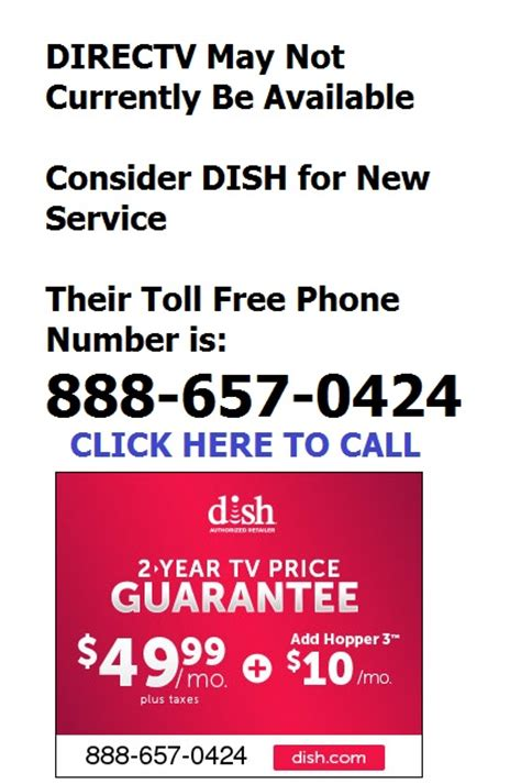 phone number for direct tv new service contact toll free phone numbers