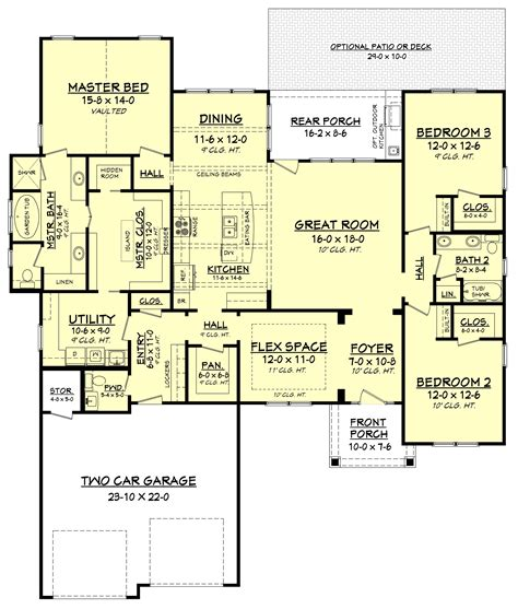 3 Bedrm, 2275 Sq Ft Craftsman House Plan #1421179
