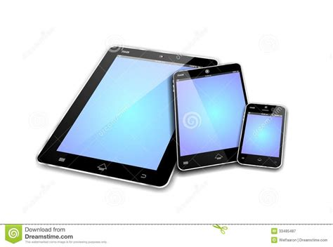 Mobile Devices Empty Screens Royalty Free Stock