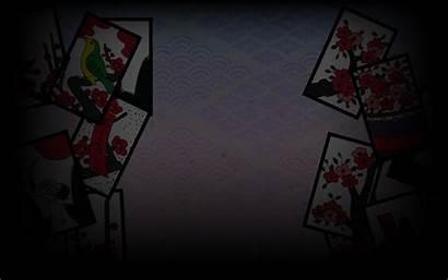 Hanafuda Cards Playing Koi Japan Background Abyss