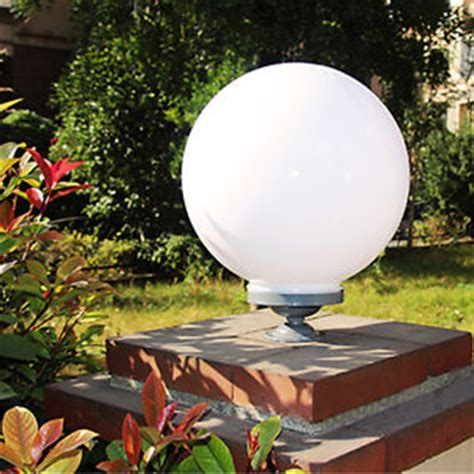 modern garden globe outdoor light plastic fixture shade