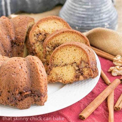 sour cream streusel coffee cake  skinny chick  bake