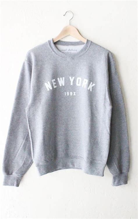 york  oversized sweatshirt grey nyct clothing