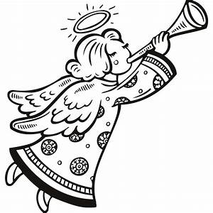 Angel Clip Art Black And White - ClipArt Best