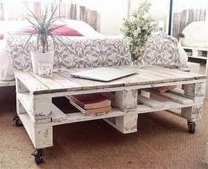Table Basse Rustique : plusieurs designs pour la table de salon en palette ~ Teatrodelosmanantiales.com Idées de Décoration