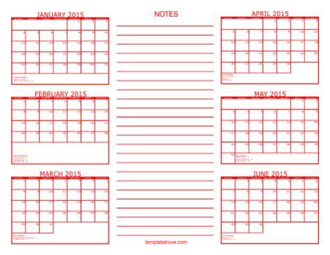 Four Month Calendars Per Page 2015 Autos Post Calendar Six Months Per Page Autos Post