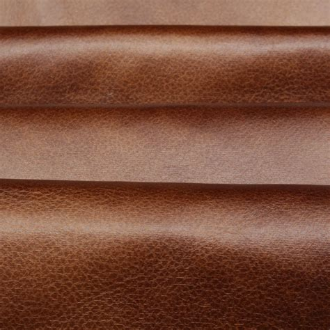 Upholstery Faux Leather distressed antique aged brown retardant faux leather