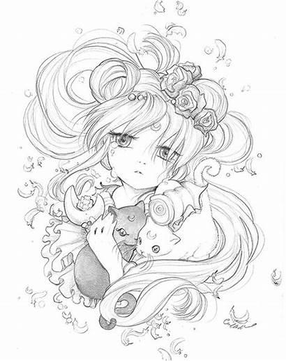 Anime Drawing Pencil Manga Crying Moon Sketches
