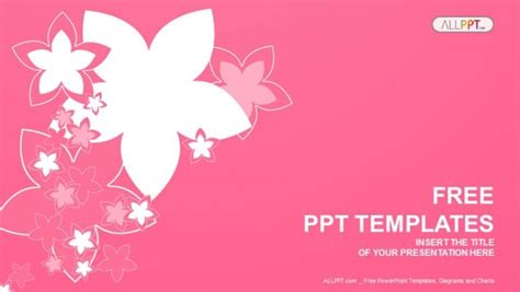 nature   pink flowers powerpoint templates