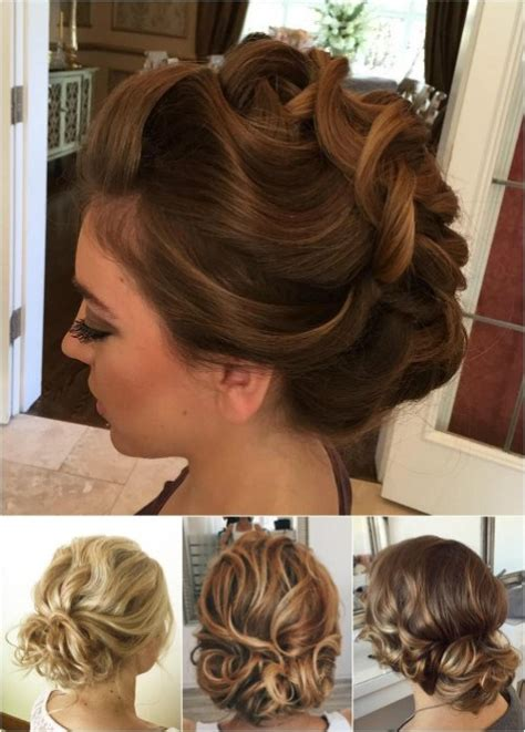 Updo Hairstyles For Curly Medium Length Hair by 54 Easy Updo Hairstyles For Medium Length Hair In 2017