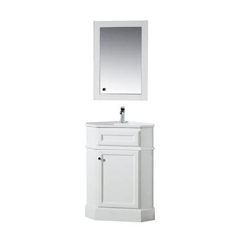 corner vanity top sink stufurhome hton 27 in w corner vanity in white with
