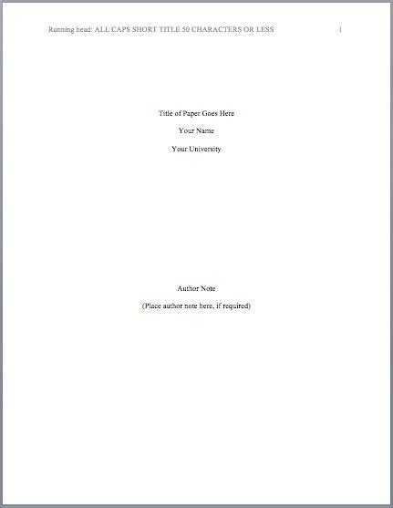 Apa Format Sample Title Page Colomb Christopherbathum Co