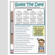 Guess The Date  2015 Worksheet  Free Esl Printable Worksheets Made By Teachers