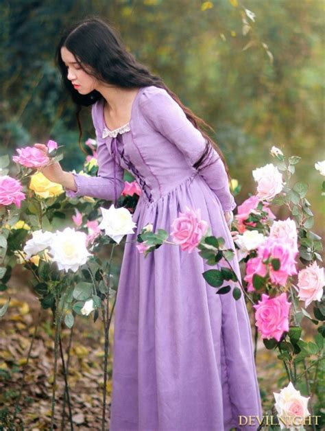 elegant purple lace  long sleeves medieval inspired