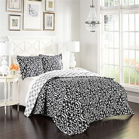 marble hill hadley reversible 3 piece comforter set bed