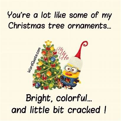 Christmas Quotes Minion Funny Tree Ornaments Quote