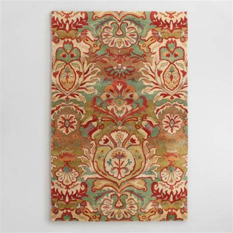 rugs world market floral medallion tufted wool area rug world market