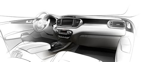 Cars Interior Design : New Kia Sorento Interior Design Revealed In First Teaser