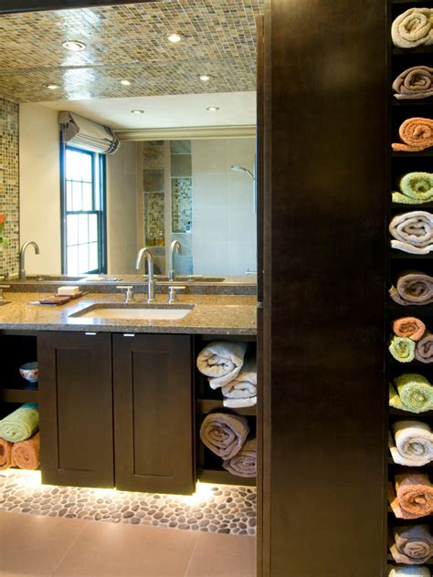 Decorating And Storage Ideas For Small Bathrooms by 12 Clever Bathroom Storage Ideas Hgtv