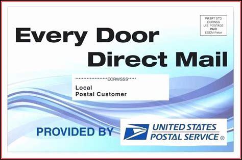 door direct mail template usps template  resume