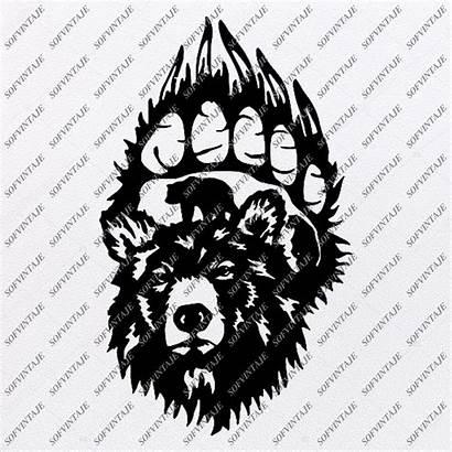 Svg Bear Cricut Bears Silhouette Clip Wild