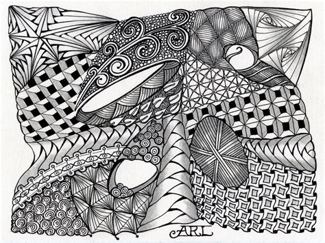 art unstructured zentangle