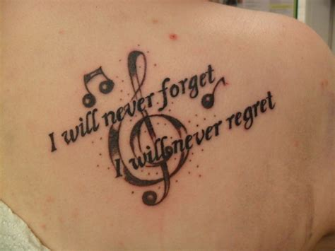 forget    regret tattoo picture