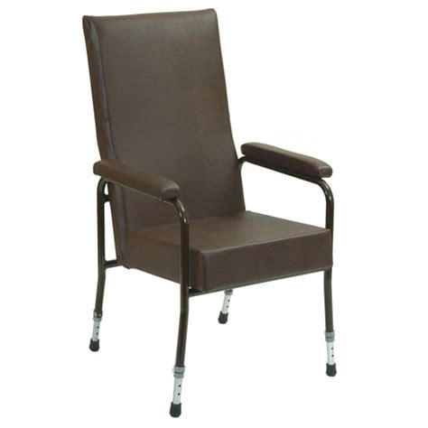 adjustable high back chair with padded arms high backed