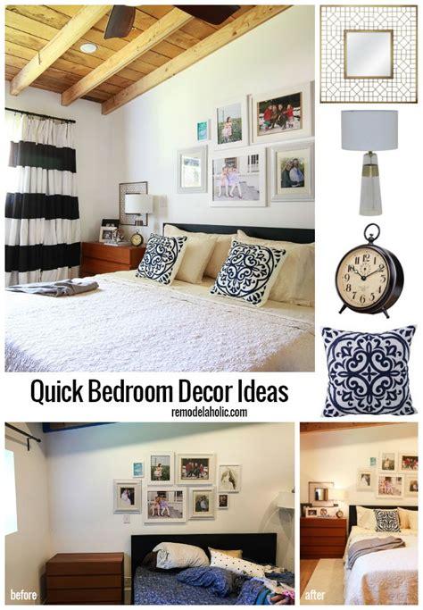 quick bedroom decor ideas   easy bedroom makeover