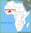 Burkina Faso location on the Africa map