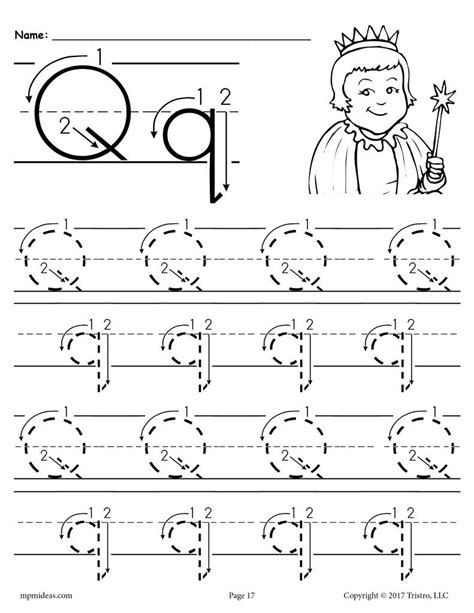 free printable letter q tracing worksheet with number and 507 | Letter 20Q 20Tracing 20Worksheet 20With 20Number 20and 20Arrow 20Guides 1024x1024