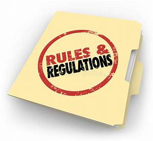 Rules Regulations Manila Folder Stamped Documents Files Stock Illustration