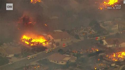 ventura fire thousands forced  evacuate cnn