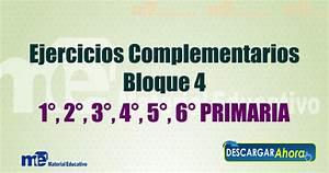 Ejercicios Complementarios Bloque 4 primaria
