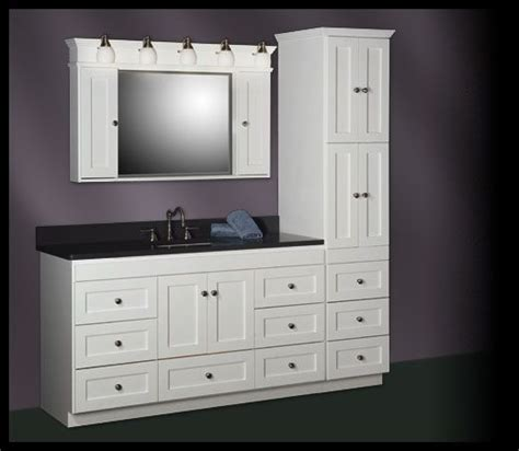 strasser shaker 60 quot vanity with linen tower ideas for