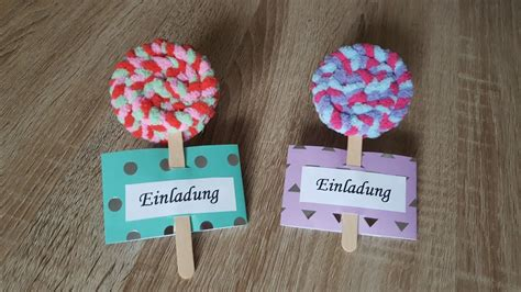 lolligeburtstagseinladung diy lollipop invitation youtube